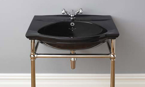 Damea black basin with heated rail