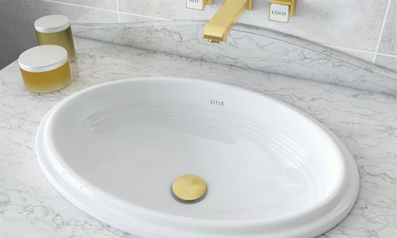 Elegance 5801 With Gold Tap And Waste