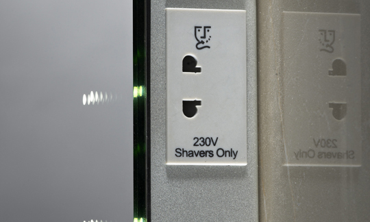 Recharging socket detail
