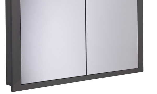 Scheme 1000mm Recessed Cabinet Gloss Dark Clay larger recess SCHCAB10120.GDC