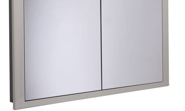 Scheme 1000mm Recessed Cabinet Gloss Warm Grey SCHCAB1075.GWG