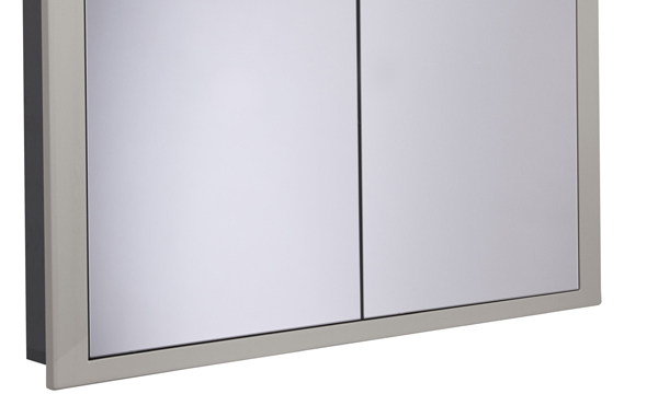 Scheme 1000mm Recessed Cabinet Gloss Warm Grey larger recess SCHCAB10120.GWG