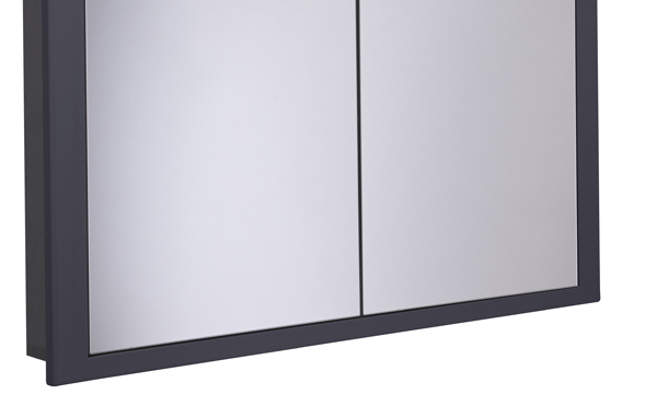 Scheme 1000mm Recessed Cabinet Matt Carbon larger recess SCHCAB10120.MCB