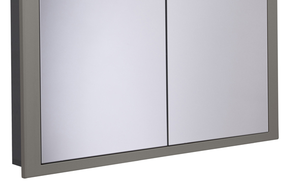 Scheme 1000mm Recessed Cabinet Matt Light Grey larger recess SSCHCAB10120