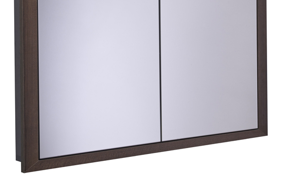 Scheme 1000mm Recessed Cabinet Smoked Walnut SCHCAB1075.SW