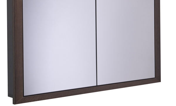 Scheme 1000mm Recessed Cabinet Smoked Walnut larger recess SCHCAB10120.SW