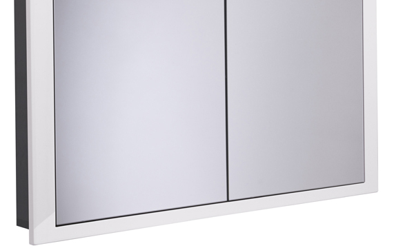 Scheme 1000mm Recessed Cabinet White larger recess SCHCAB10120.GW