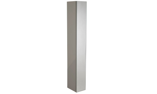 Scheme 1400mm Mirrored Column Matt Light Grey SCHCD1400