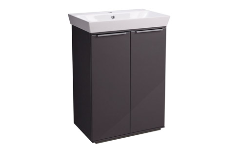 Scheme 600mm FM Gloss Dark Clay Ceramic Basin SCH6F.GDC