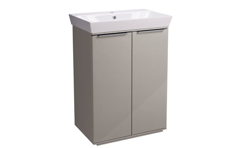 Scheme 600mm FM Gloss Warm Grey Ceramic Basin SCH6F.GWG