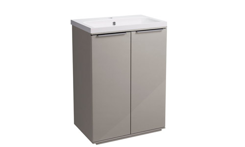 Scheme 600mm FM Gloss Warm Grey ISO Basin SCH6F.GWG