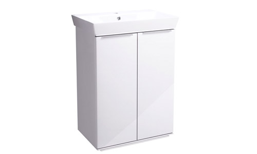 Scheme 600mm FM Gloss White Ceramic Basin SCH6F.GW