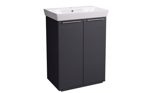 Scheme 600mm FM Matt Carbon Ceramic Basin SCH6F.MCB