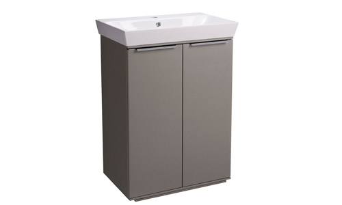 Scheme 600mm FM Matt Light Clay Ceramic Basin SCH6F