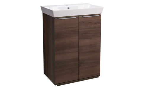 Scheme 600mm FM Smoked Walnut Ceramic Basin SCH6F.SW