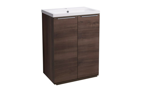 Scheme 600mm FM Smoked Walnut  ISO Basin SCH6F.SW