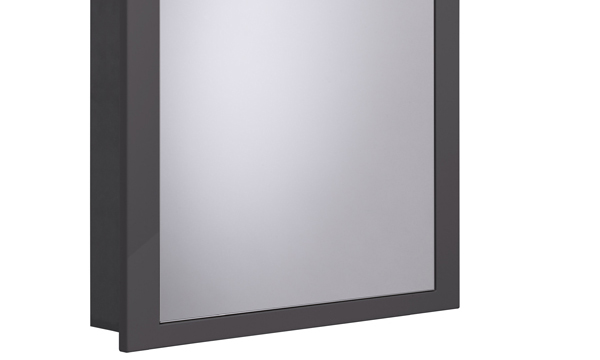Scheme 600mm Recessed Cabinet Gloss Dark Grey larger 120 recess SCHCAB6120.GDC