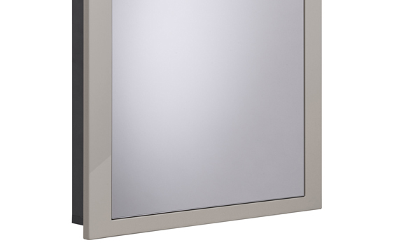 Scheme 600mm Recessed Cabinet Gloss Warm Grey small depth SCHCAB675.GWG