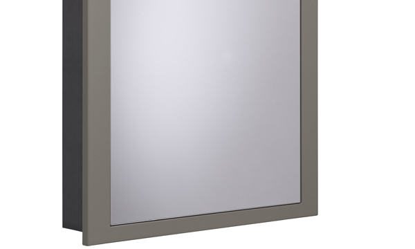 Scheme 600mm Recessed Cabinet Matt Light Gey larger 120 recess SCHCAB6120