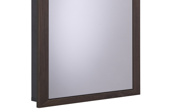 Scheme 600mm Recessed Cabinet Smoked Walnut small depth SCHCAB6750.SW