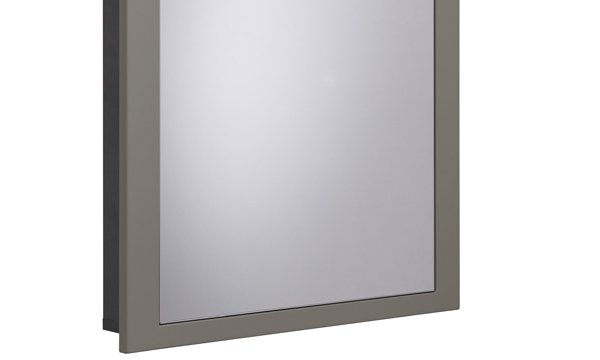Scheme 600mm Recessed Cabinet matt light clay small depth SCHCAB675