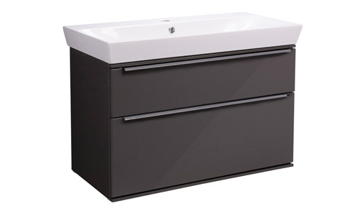 Scheme 800mm Gloss Dark Clay with Ceramic Basin SCH800D.GDC