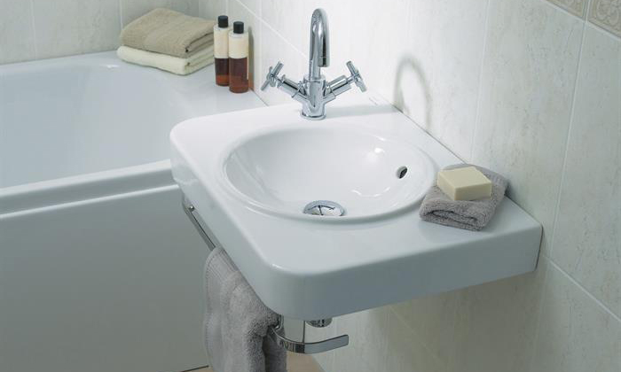 Water Jewels all in one washbasin 60cm with uno basin mixer
